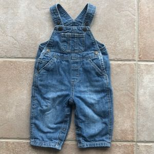Cute jean overalls with lining and buttons